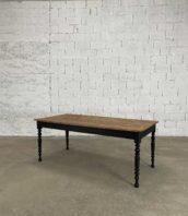 table pieds tournés 190cm chene 5francs 1 172x198 - Table à manger avec pieds tournés en chêne longueur 190 cm