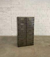 vestiaire industriel 12 casiers acier 5francs 1 172x198 - Vestiaire industriel avec 12 casiers en metal hauteur 161cm