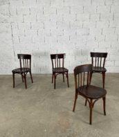 """ensemble de 4 chaise de bistrot porto style baumann hauteur assise 46cm 5francs 1 172x198 - Ensemble de 4 chaises de bistrot """"Porto"""" style Baumann"""