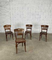 ensemble de 4 chaises de bistrot baumann modele rare assise gaufre hauteur assise 45cm 5francs 1 172x198 - Ensemble de 4 chaises de bistrot Baumann modèle rare assise gaufré