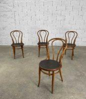 ensemble de 4 chaises de bistrot jacob et josef kohn a volutes hauteur assise 45cm 5francs 1 172x198 - Ensemble de 4 chaises de bistrot Jacob et Josef KohN à volutes