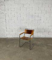 fauteuil cuir modele b34 design marcel breuer marque thonet hauteur assise 44cm cuir marron 5francs 1 172x198 - Fauteuil en cuir modèle B34 de Marcel Breuer par Thonet années 50