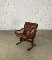 fauteuil siesta en cuir de ingmar relling pour westnofa 5francs 1 172x198 - Fauteuil Siesta en cuir de Ingmar Relling pour Westnofa années 1960
