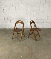 paire de chaises pliantes b751 design bauhaus marque thonet hauteur assise 44cm 5francs 1 172x198 - Paire de chaises pliantes N°B751 Bauhaus Thonet hauteur assise 44cm