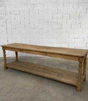 ancienne table drapier chene massif 180cm meuble metier 5francs 2 172x198 - Ancienne table de drapier en chêne claire de 251 cm