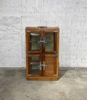 """cave vin vintage brasserie frigidaire bois 5francs 1 172x198 - Cave à vin en bois de luxe ancien frigidaire de brasserie """"LYON"""""""