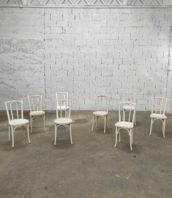 chaise baumann bois courbe blanc bistrot 5francs 1 172x198 - Ensemble 8 chaises bistrot Baumann patine blanche année 1930
