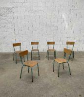"""chaise ecole verte 36 vintage patine 5francs 1 172x198 - Ensemble de 36 chaises d'école vintage patine verte """"CAVAILLON"""""""
