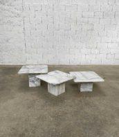 ensemble 3 tables gigognes annee 80 5francs 1 172x198 - Ensembles 3 tables basses gigognes en marbre année 80