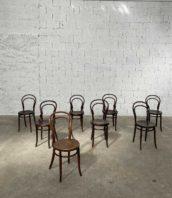 "ensemble 8 chaises thonet double volute bistrot 5francs 1 172x198 - Ensemble 8 chaises Thonet double volutes année 1900 ""NOVE"""