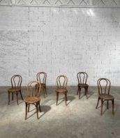 ensemble chaises thonet n14 bistrot bois courbe 5francs 1 172x198 - Ensemble de 6 chaises de bistrot Thonet modèle n°14