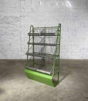 etagere epicerie metal ancienne 5francs 1 172x198 - Ancienne étagère d'épicerie à légumes en métal
