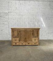 grand buffet pin brut meuble metier 198cm 5francs 1 172x198 - Ancien grand meuble de métier en pin entièrement décapé