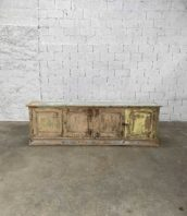grande enfilade patine meuble metier porte pin 5francs 1 172x198 - Ancienne grande enfilade 4 portes en pin de 265 cm