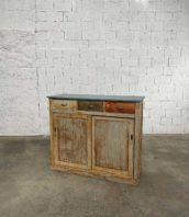 meuble atelier 2 portes coulissantes bois metier 5francs 1 172x198 - Meuble de métier 2 portes coulissante avec patine