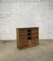 meuble metier titoirs montagnard 160cm 5francs 1 172x198 - Ancien meuble de métier en pin style montagnard 10 tiroirs