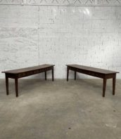 paire enfilade console tiroirs monastere 5francs 1 172x198 - Ancienne paire consoles à tiroirs de presbytère en noyer 246 cm