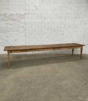 table ferme 399cm massif atelier ancienne 5francs 1 172x198 - Immense table de ferme bois massif 399 cm pieds fuseaux