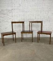 ensemble 5 tables de bistrot pieds tournes 5francs 1 172x198 - Ensemble de 5 tables de bistrot avec pieds tournés