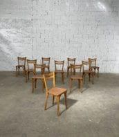"""ensemble de 10 chaises de bistrot baumann assise mouchetees modele lille 5francs 1 172x198 - Ensemble 10 chaises bistrot Baumann assise mouchetées modèle """"LILLE"""""""