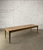 """table de ferme modele jura pietement chene plateau pin longue 300cm 5francs 1 172x198 - Table de ferme modèle """"JURA"""" piétement chêne plateau pin longue 300cm"""