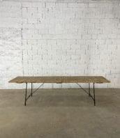 """table guinguette pieds tubulaires pin et metal longue 300cm 5francs 1 172x198 - Table de guinguette modèle """"Tête d'Or"""" pieds métal longue 300cm"""