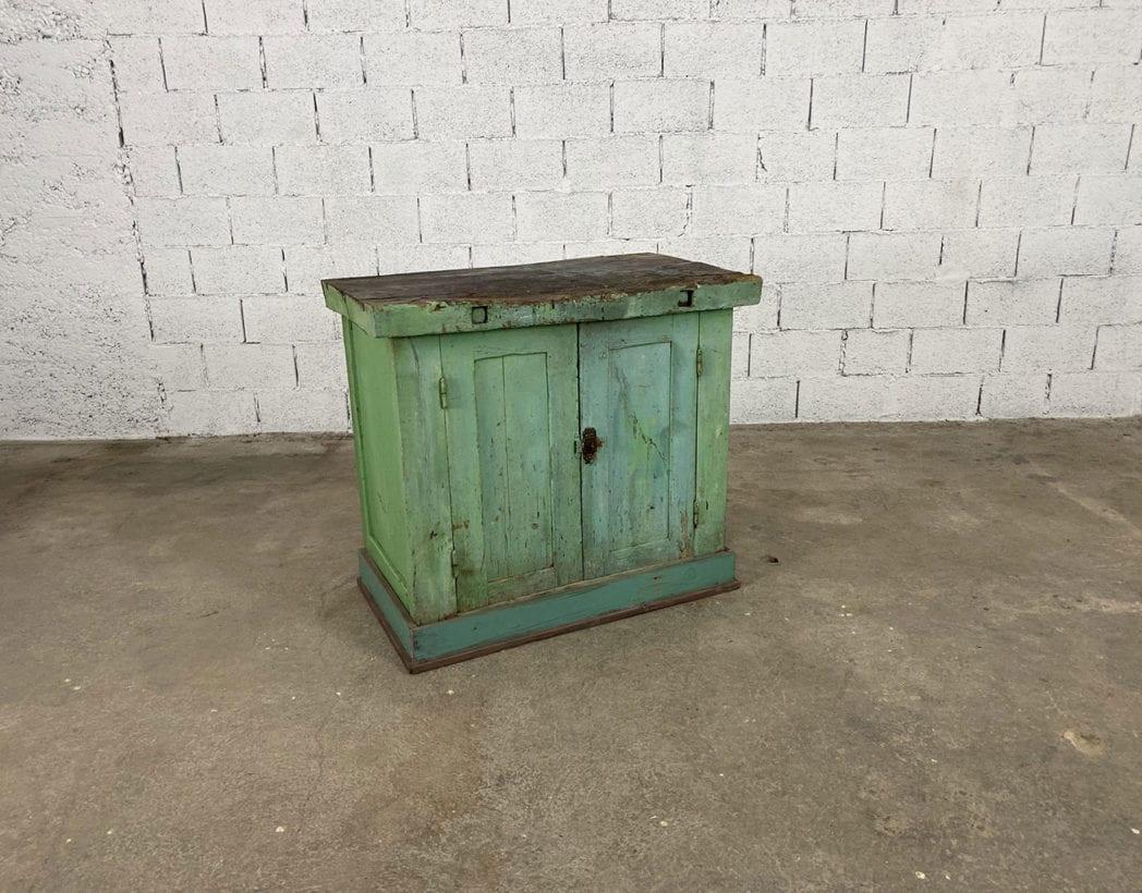 ancien-petit-etabli-atelier-placard-chene-patine-verte-5francs-2