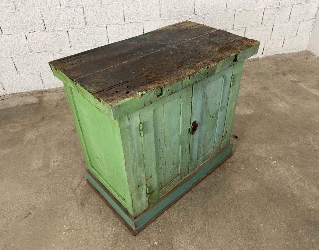 ancien-petit-etabli-atelier-placard-chene-patine-verte-5francs-3