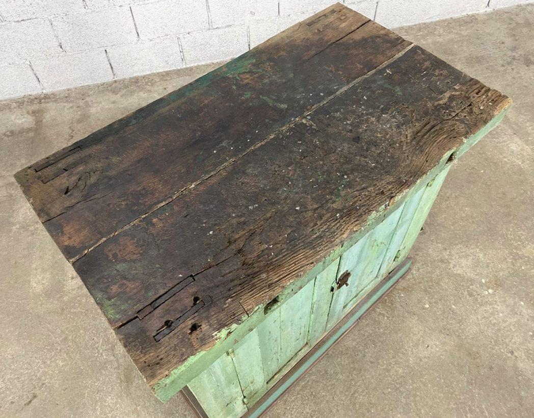 ancien-petit-etabli-atelier-placard-chene-patine-verte-5francs-4
