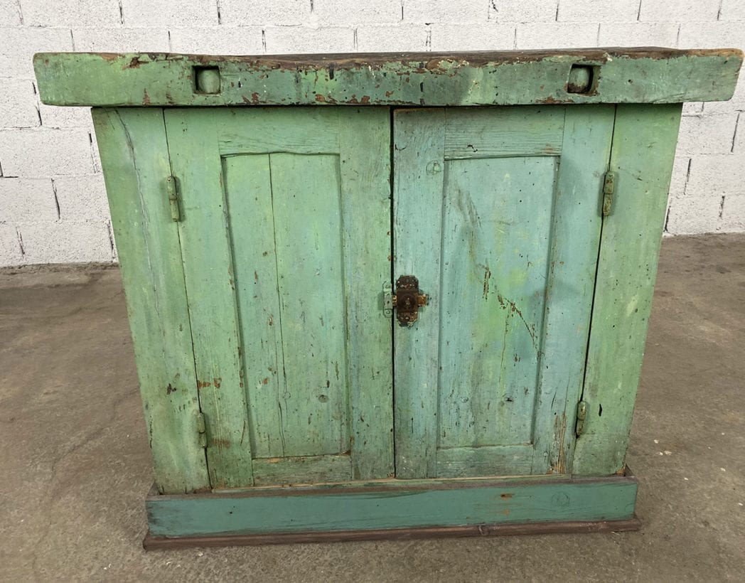 ancien-petit-etabli-atelier-placard-chene-patine-verte-5francs-5