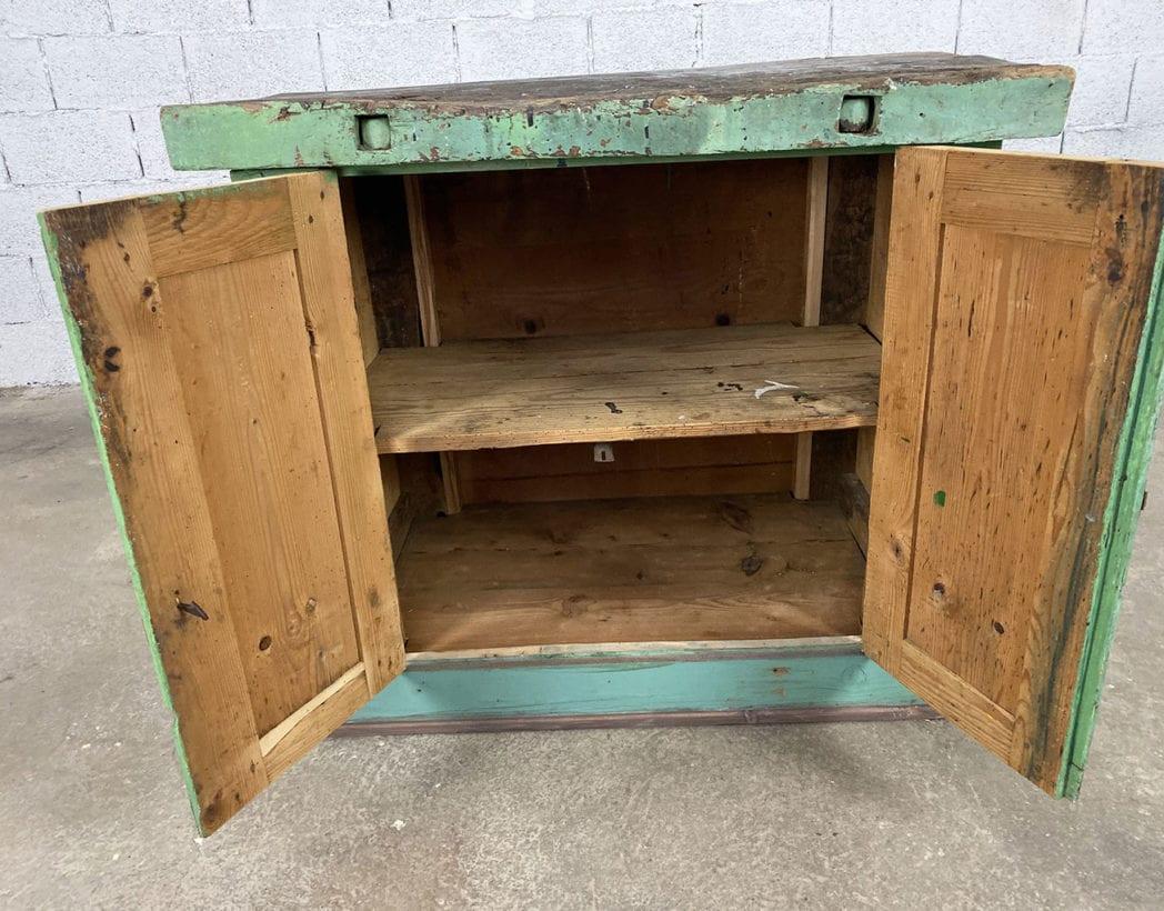 ancien-petit-etabli-atelier-placard-chene-patine-verte-5francs-6