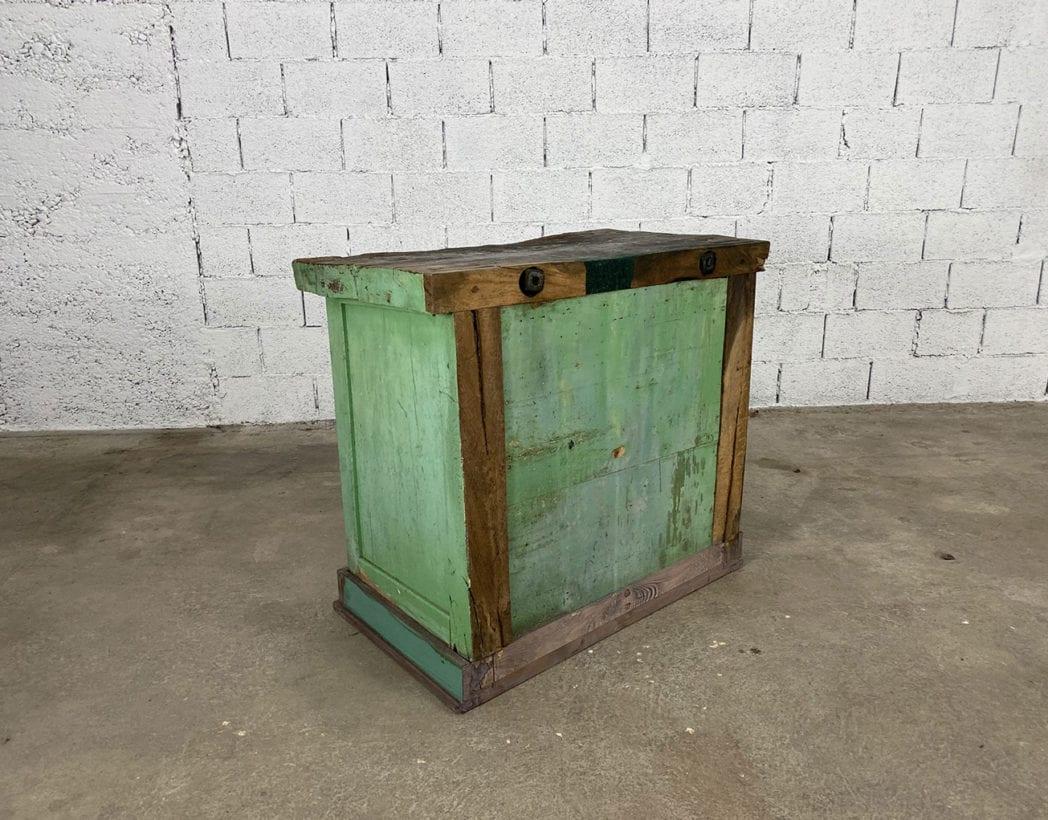 ancien-petit-etabli-atelier-placard-chene-patine-verte-5francs-7