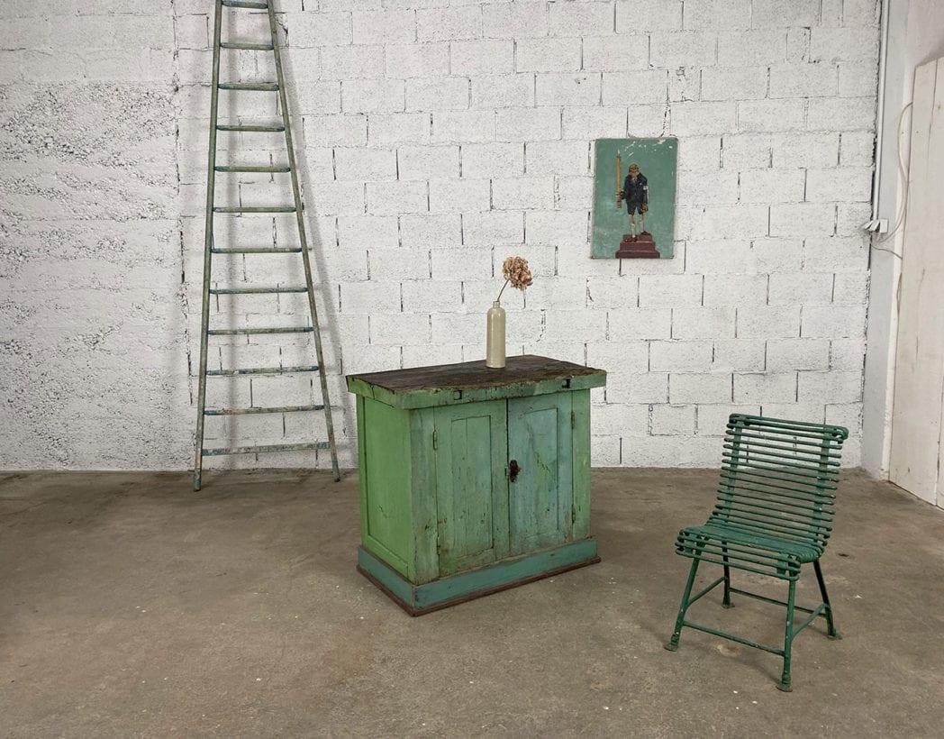 ancien-petit-etabli-atelier-placard-chene-patine-verte-5francs-8