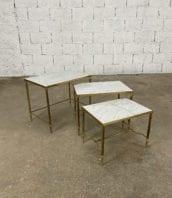 set-tables-basses-gigognes-marbre-laiton-maison-Jansen-5francs-1
