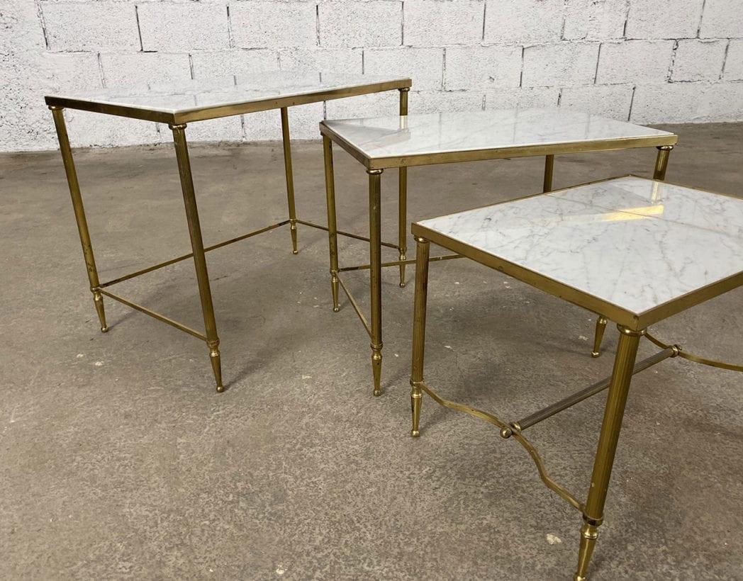 set-tables-basses-gigognes-marbre-laiton-maison-Jansen-5francs-5
