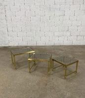 tables-basses-gigognes-laiton-doré-verre-fumé-maison-janser-5francs-1