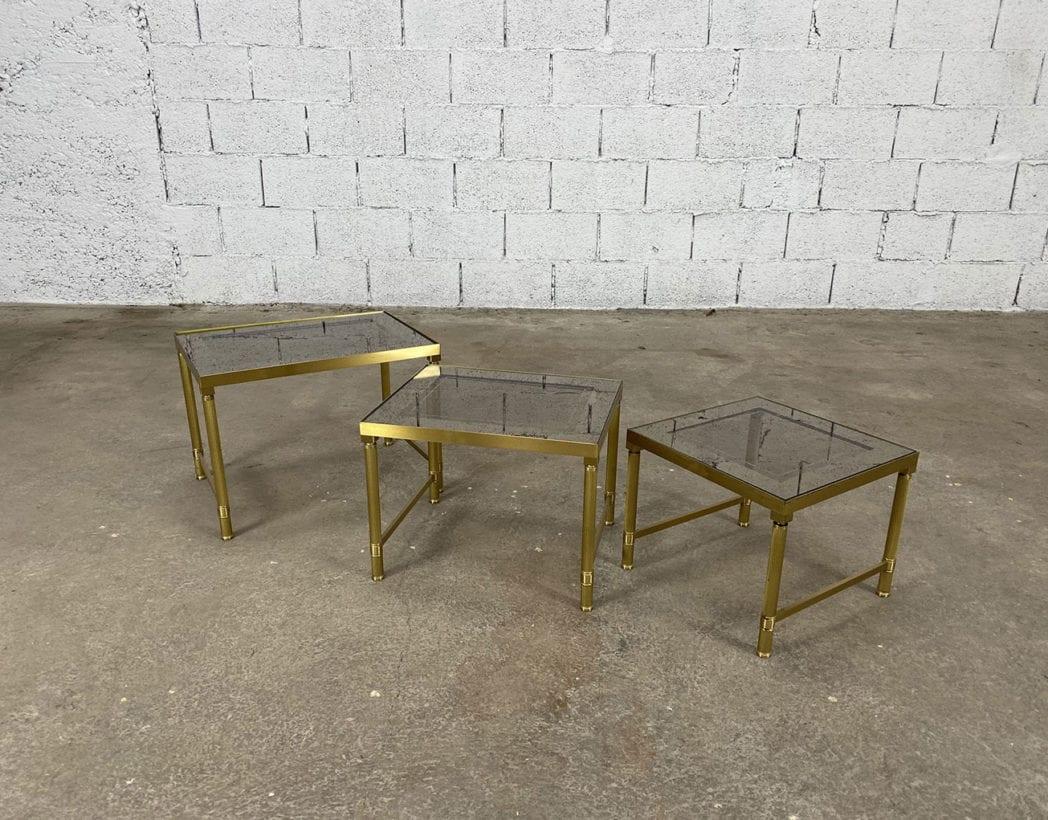 tables-basses-gigognes-laiton-doré-verre-fumé-maison-janser-5francs-2