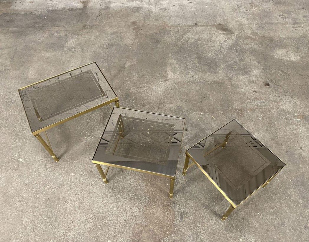 tables-basses-gigognes-laiton-doré-verre-fumé-maison-janser-5francs-4