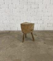 ancien-billot-de-boucher-hêtre-art-primitif-art-pop-bois-clair-mobilier-vintage-5francs-1