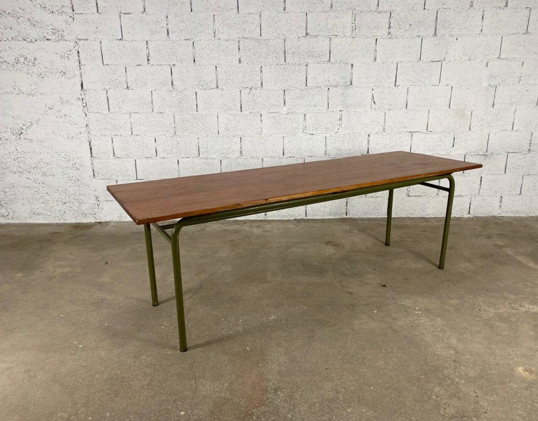 ancienne-table-refectoire-bois-tube-metallique-vintage-retro-5francs-1