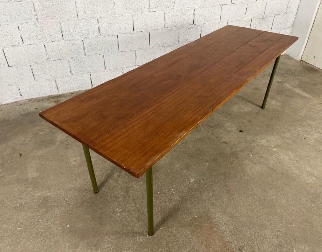 ancienne-table-refectoire-bois-tube-metallique-vintage-retro-5francs-3