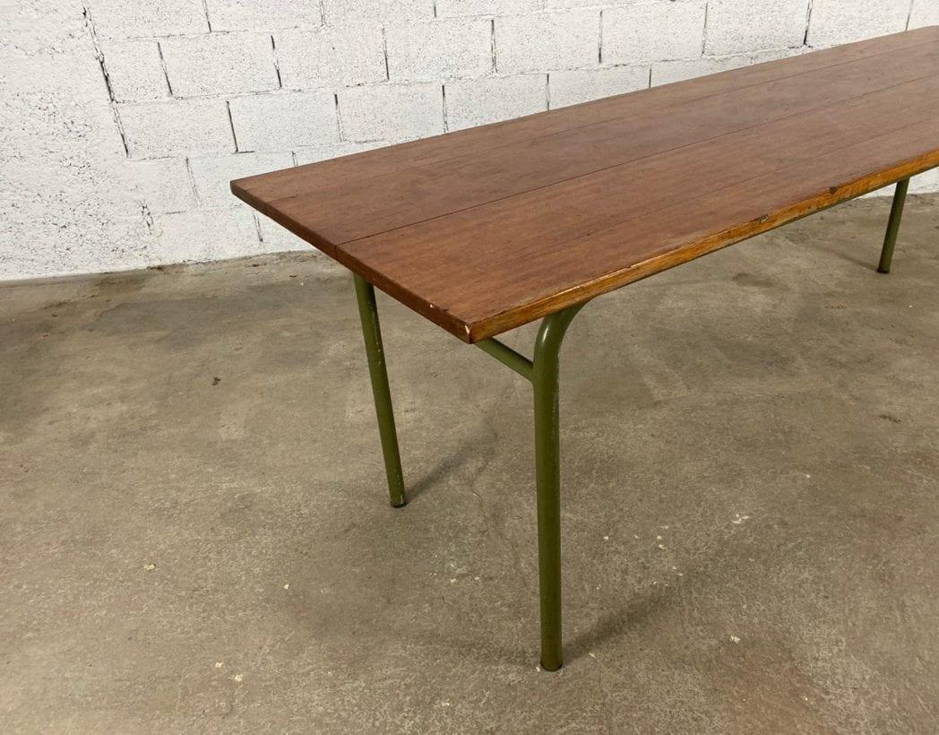 ancienne-table-refectoire-bois-tube-metallique-vintage-retro-5francs-4