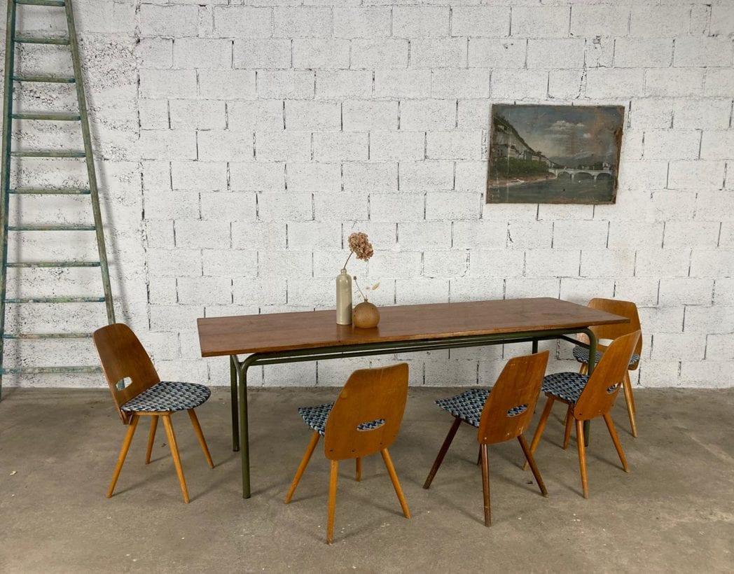 ancienne-table-refectoire-bois-tube-metallique-vintage-retro-5francs-7