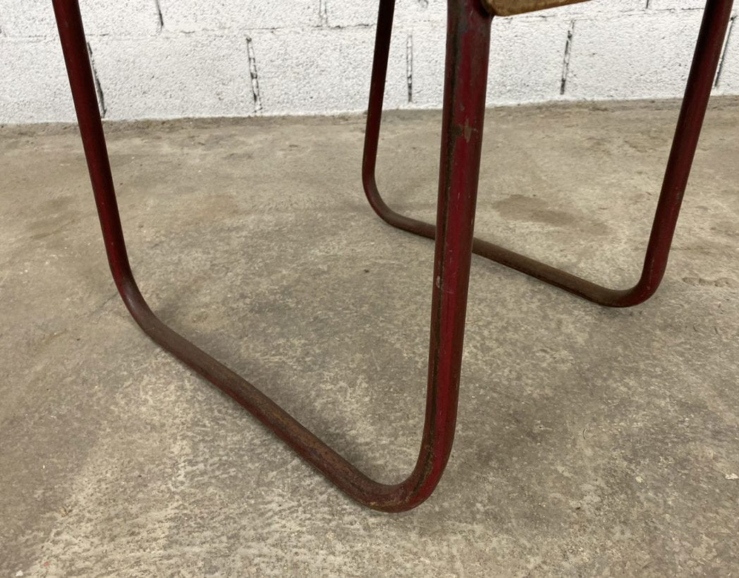 chaise-tubulaire-esprit-marcel-bauhaus-bois-patinee-vintage-annees-5francs-8
