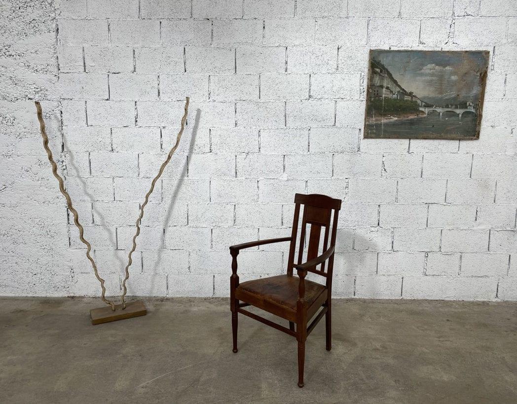 fauteuil-art-nouveau-bois-exotique-chene-cuir-vintage-retro-annees20-5francs-10