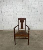 fauteuil-art-nouveau-bois-exotique-chene-cuir-vintage-retro-annees20-5francs-2