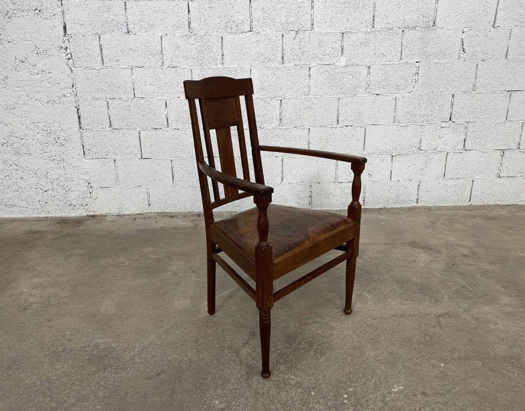 fauteuil-art-nouveau-bois-exotique-chene-cuir-vintage-retro-annees20-5francs-3