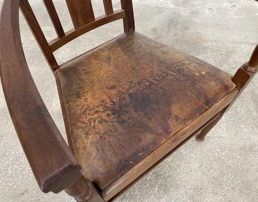 fauteuil-art-nouveau-bois-exotique-chene-cuir-vintage-retro-annees20-5francs-4