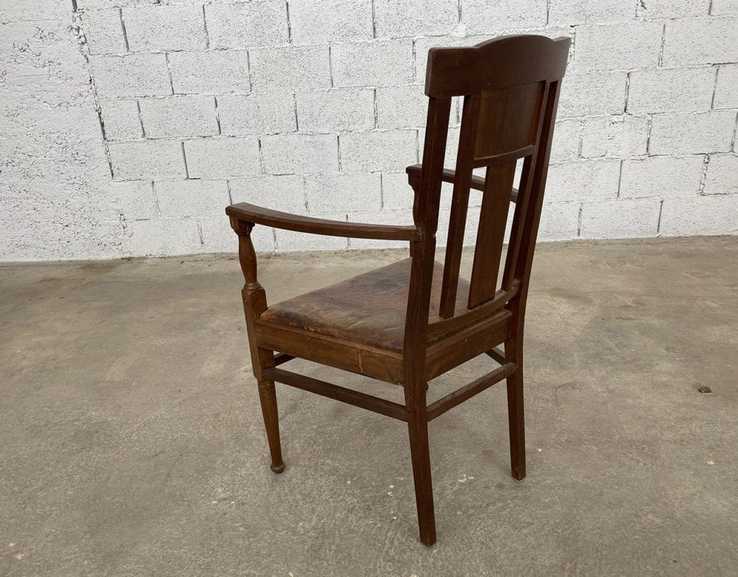 fauteuil-art-nouveau-bois-exotique-chene-cuir-vintage-retro-annees20-5francs-6