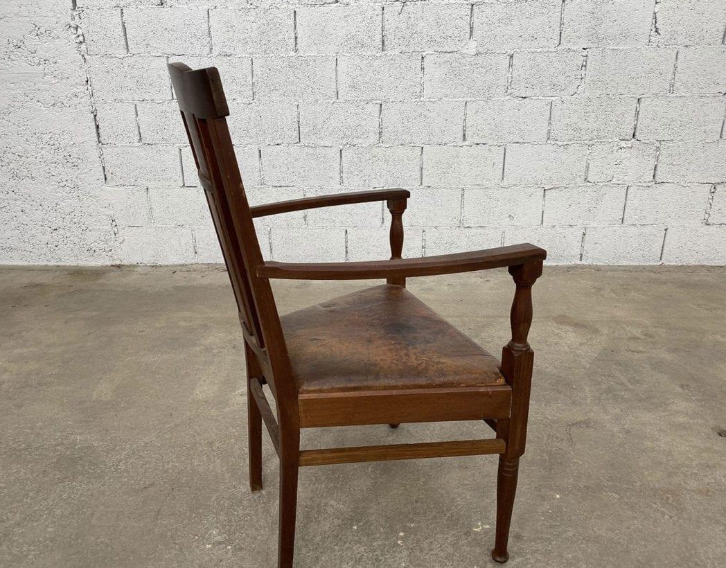 fauteuil-art-nouveau-bois-exotique-chene-cuir-vintage-retro-annees20-5francs-8